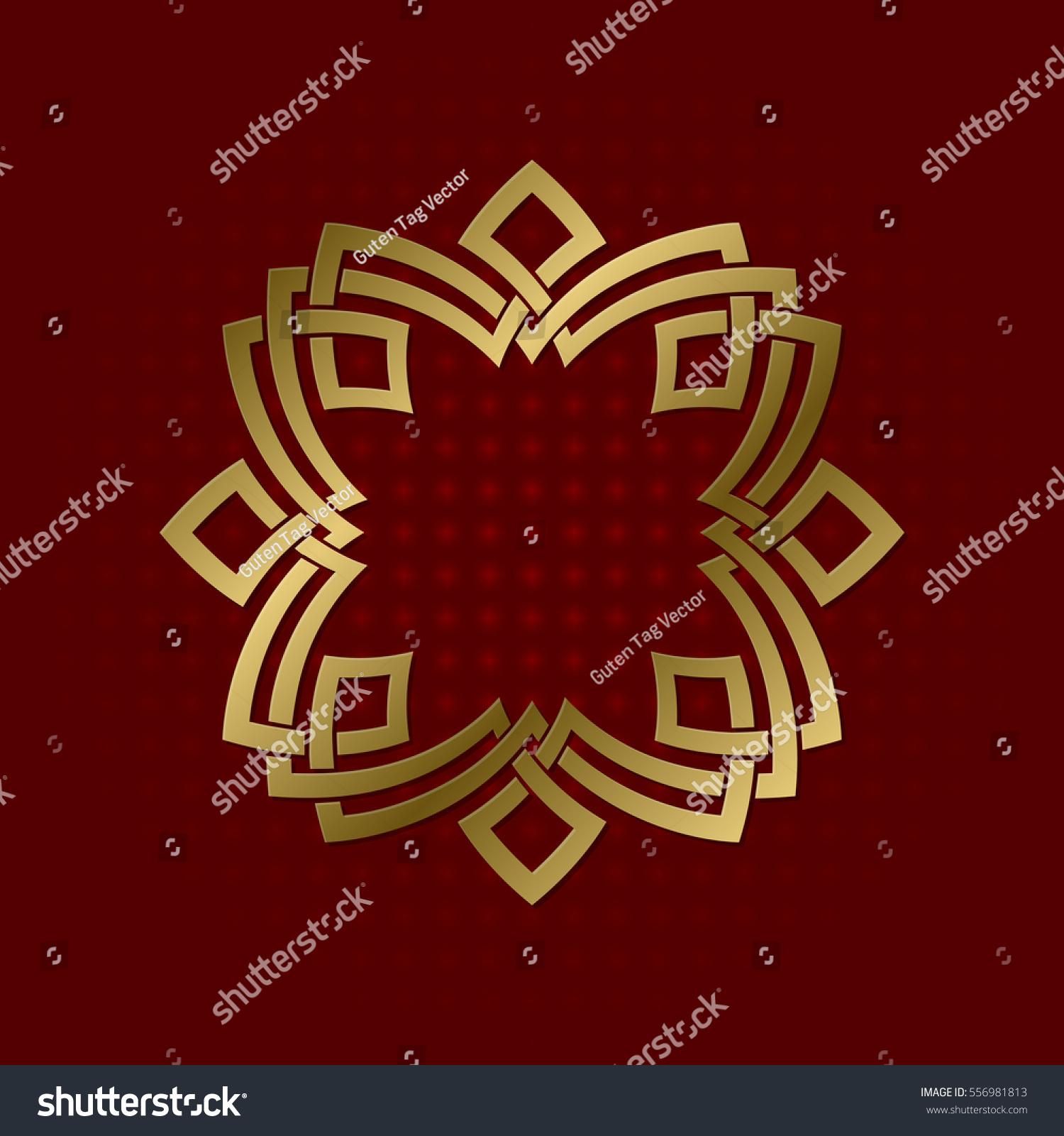 Sacred Geometric Symbol Eight Pointed Plexus Stock Vector (Royalty ...