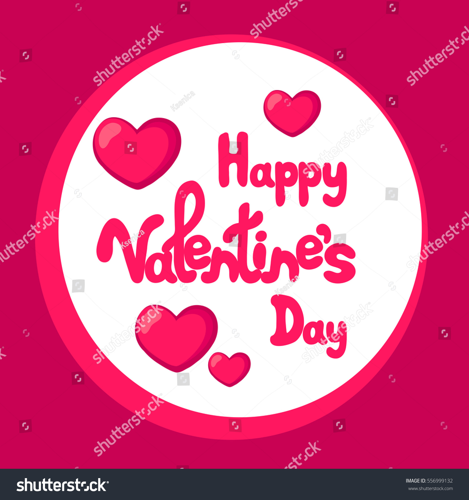 Happy Valentines Day Greeting Card Text Stock Vector 556999132