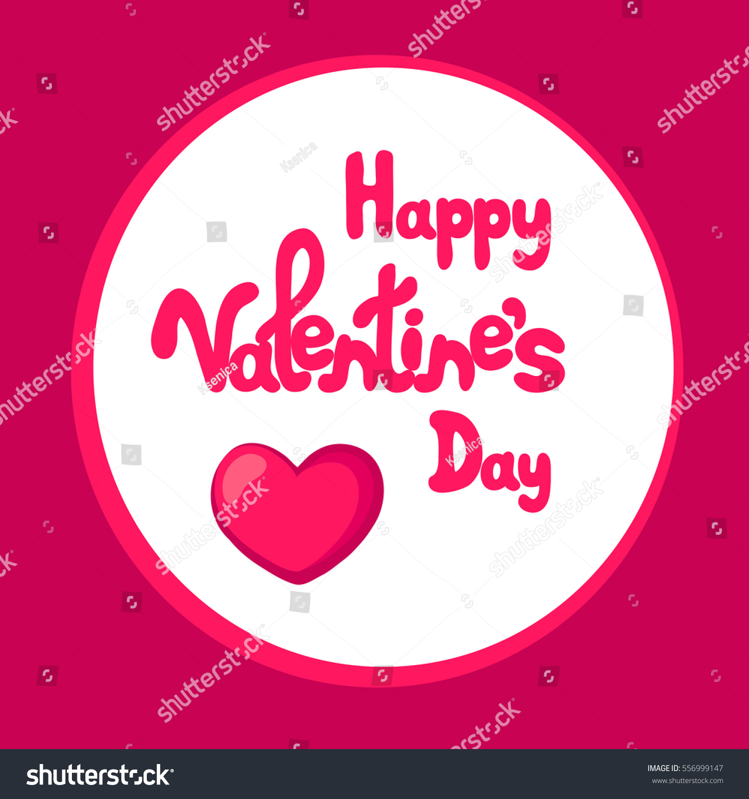 Happy Valentines Day Greeting Card Text Stock Vector 556999147