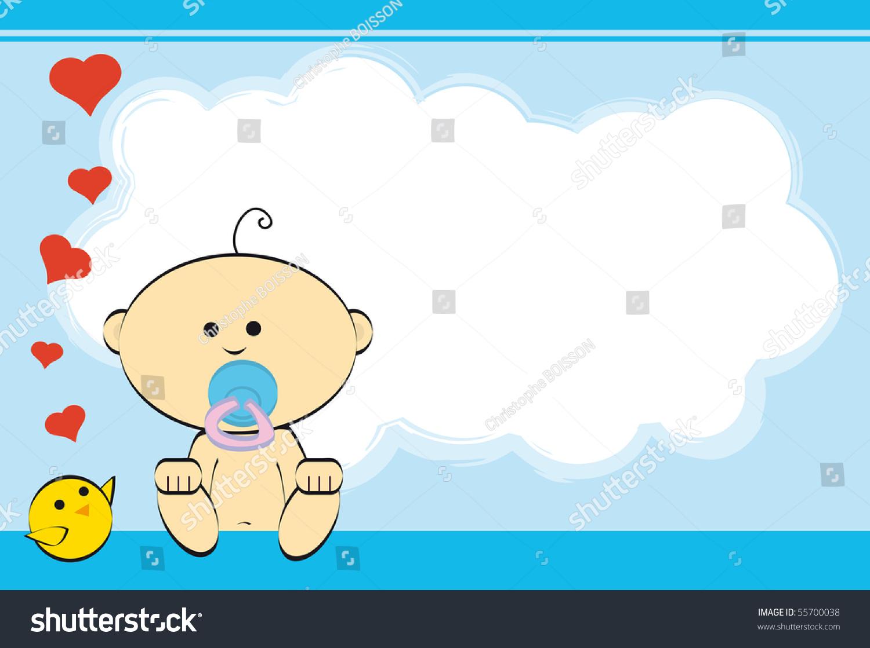 Boy Greeting Card Baby Boy Stock Vector Royalty Free 55700038