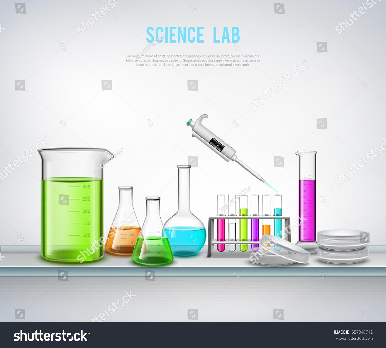 Laboratory equipment composition syringe bottles tubes stock laboratory equipment composition with syringe bottles tubes realistic symbols on blank background flat vector illustration buycottarizona