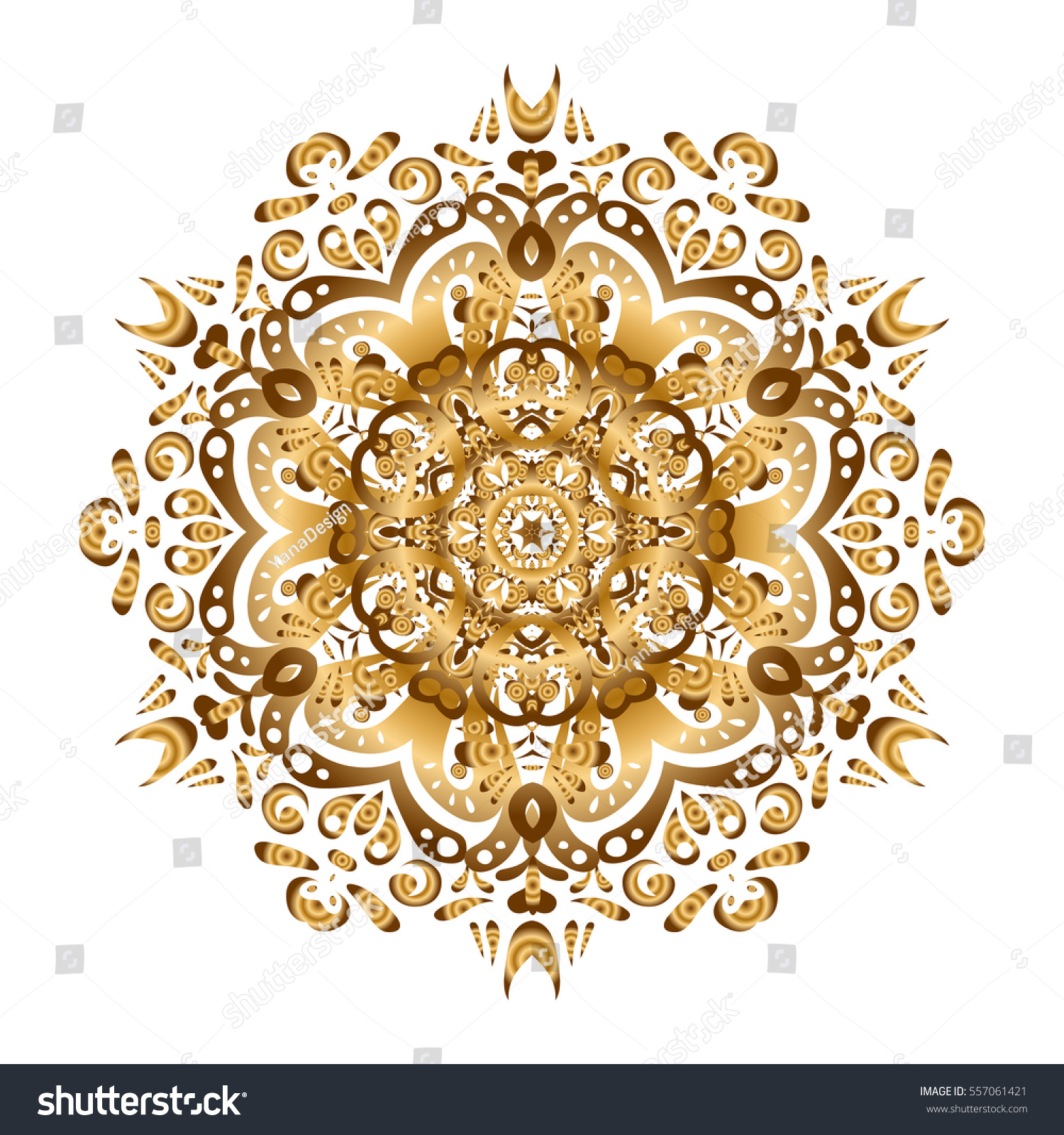 Round flower ornament invitation golden mandala stock illustration round flower ornament invitation with golden mandala design element square invite template decorative stopboris Image collections