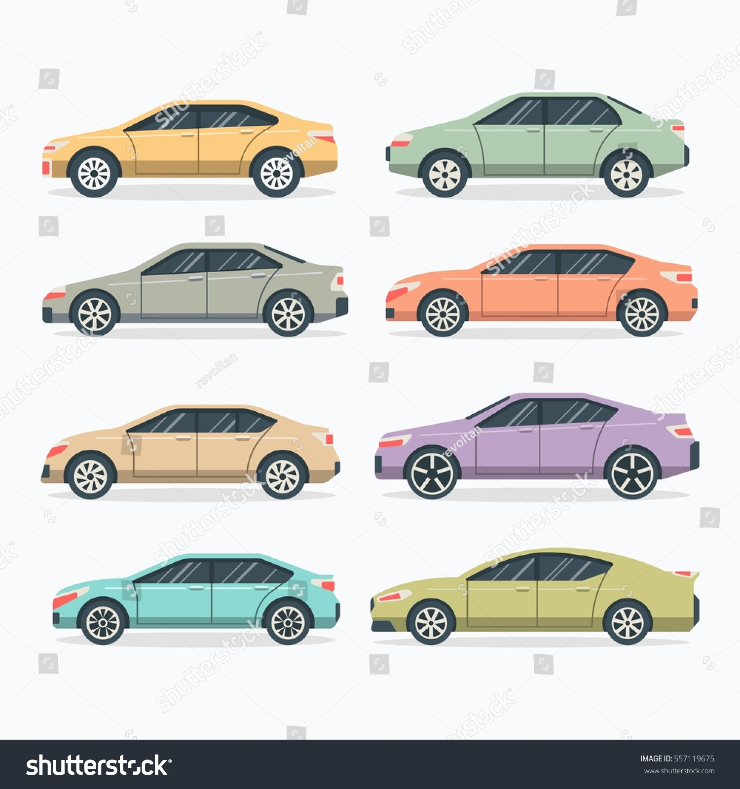 Popular United State Car Flat Car Stock Vector 557119675