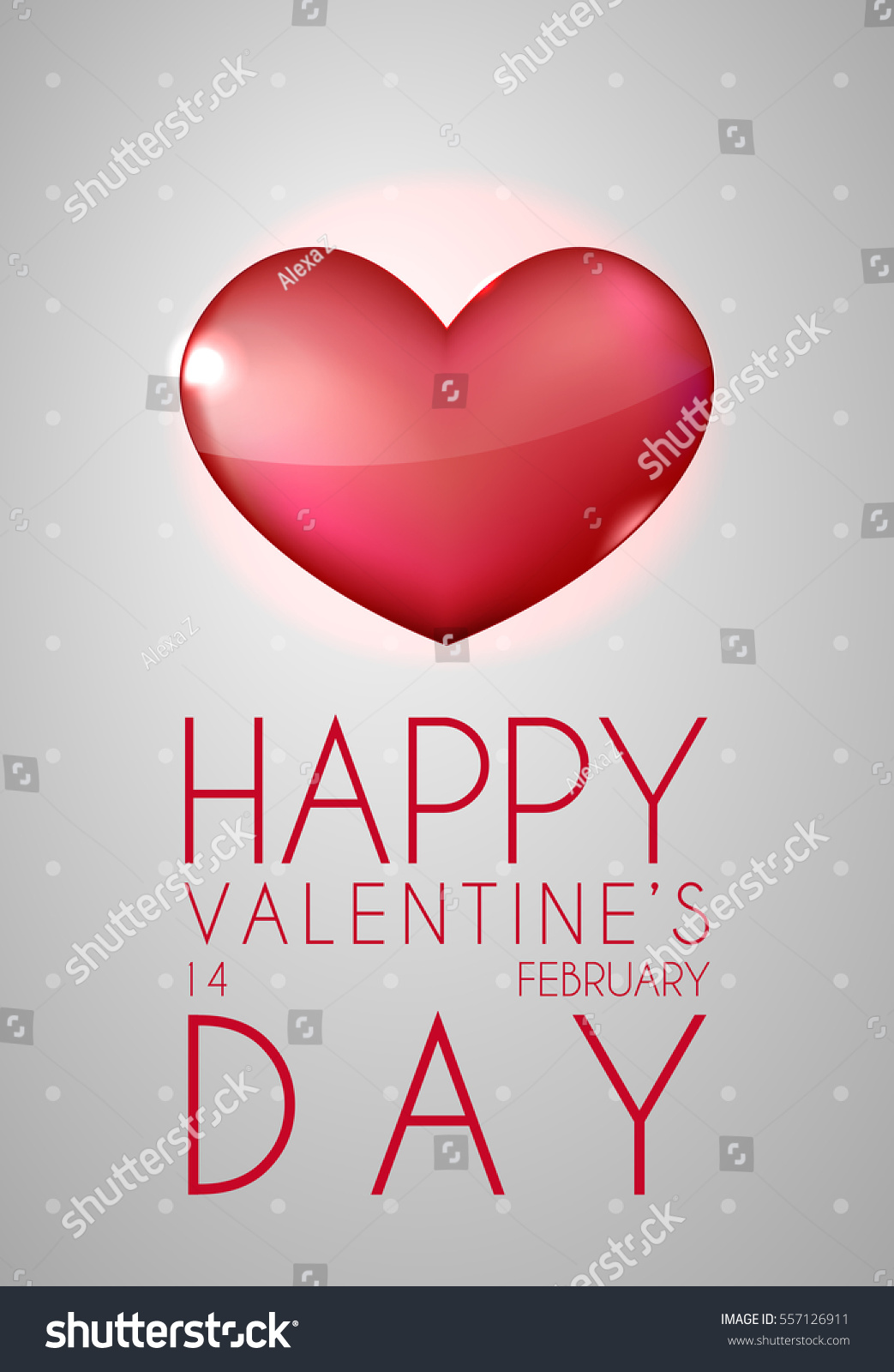 Happy Valentines Day Greeting Card Big Stock Vector 557126911