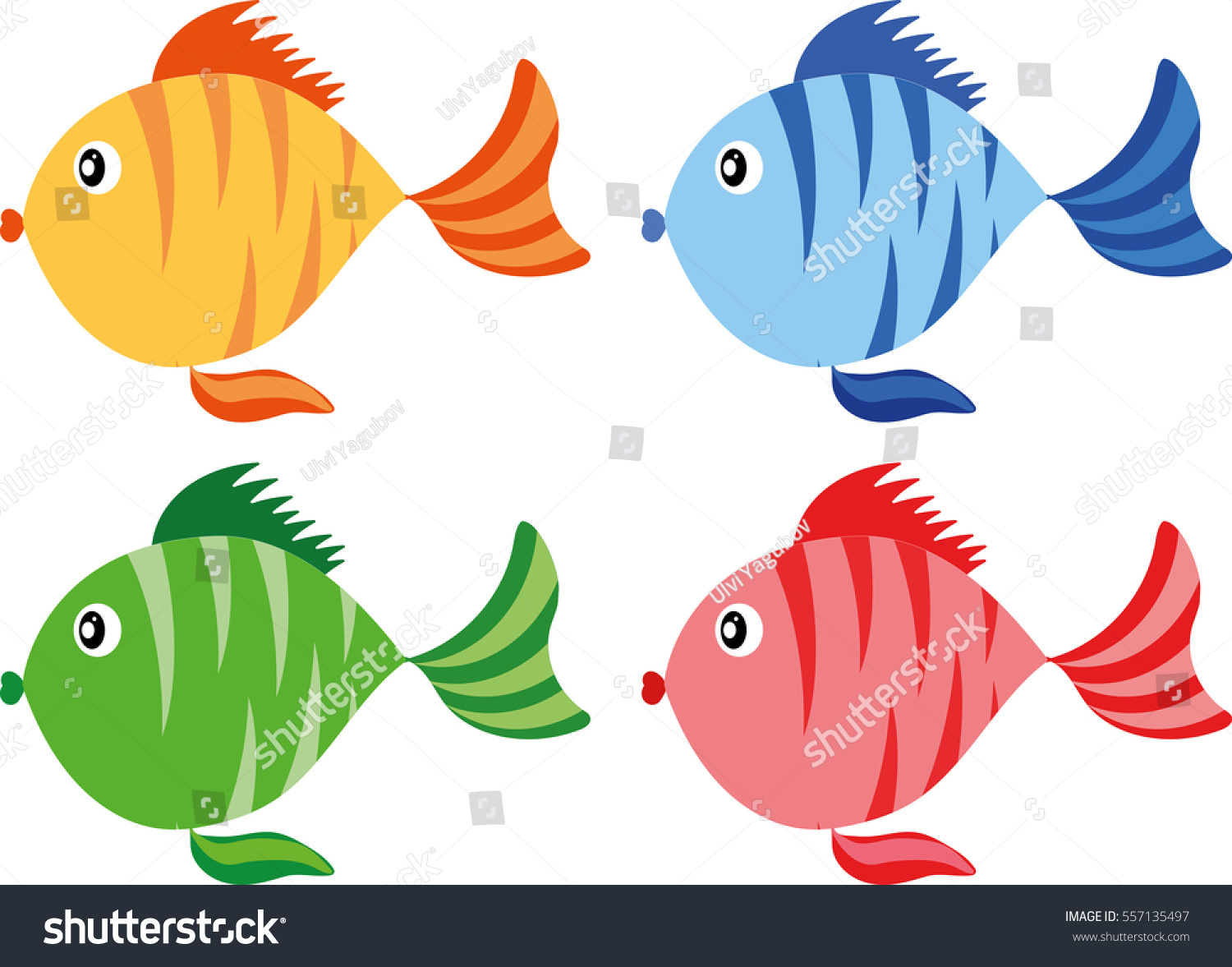 Color fish cartoon icon fish 2 a variation of my colored for What color are fish
