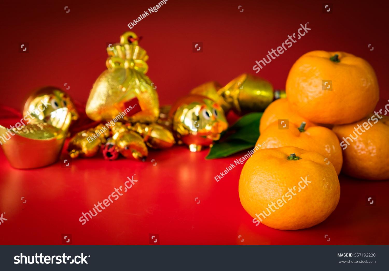 East Orange Focus >> Chinese New Year Decorations Orange Gold Stock Photo 557192230 - Shutterstock
