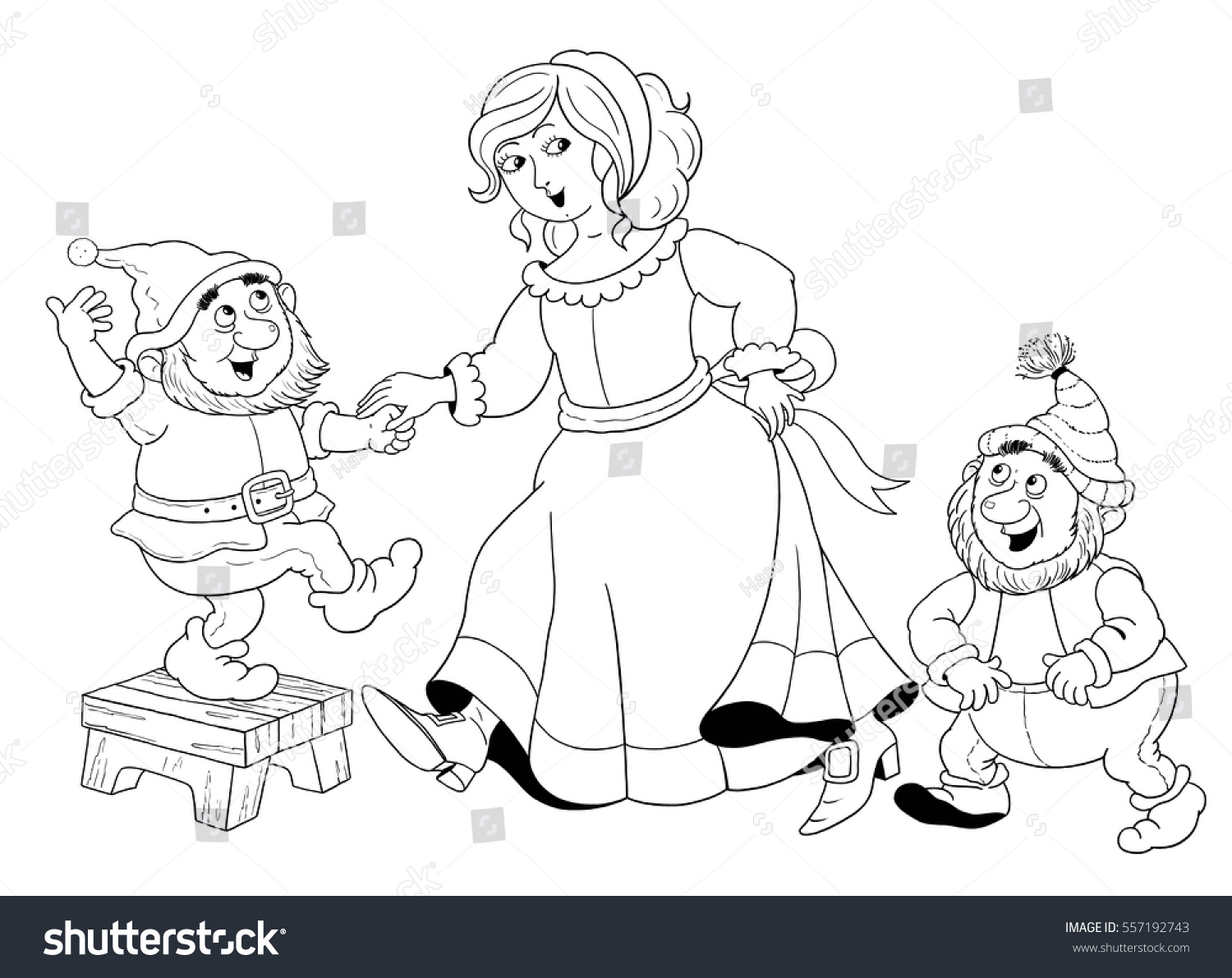 Royalty Free Stock Illustration of Snow White Seven Dwarfs Fairy ...