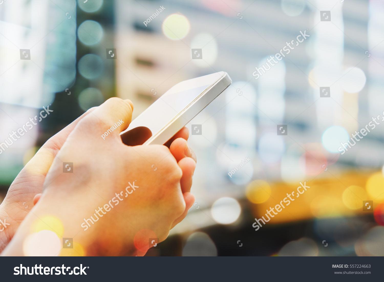 People Using Smart Phone Backgroundcommunication