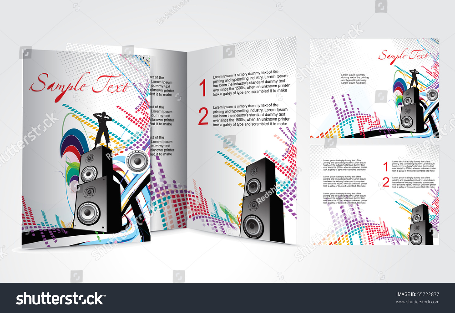Brochure Design Music Concept Vector Illustartion Vector – Music Brochure