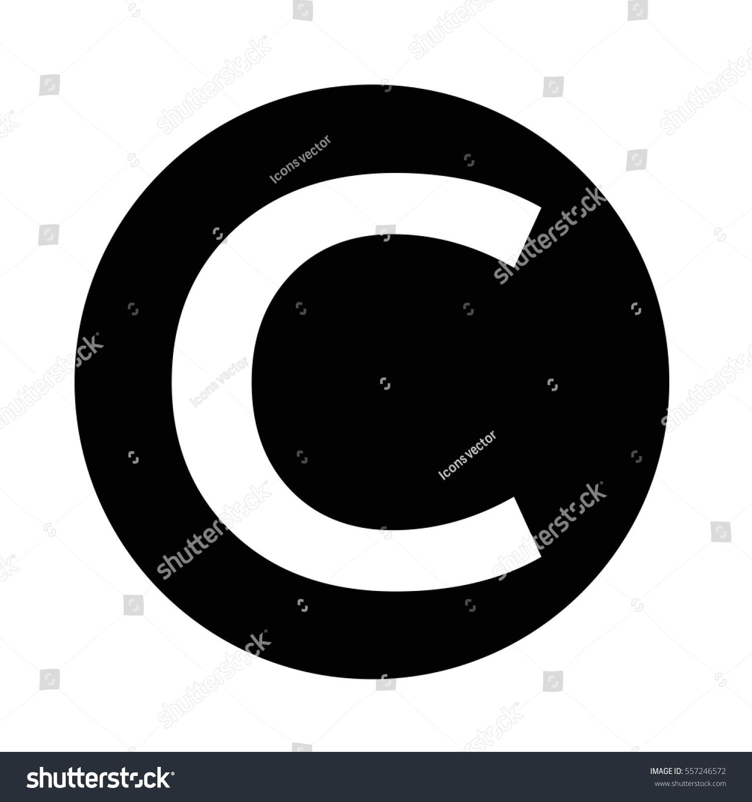 Copyright symbol icon stock vector 557246572 shutterstock copyright symbol icon biocorpaavc