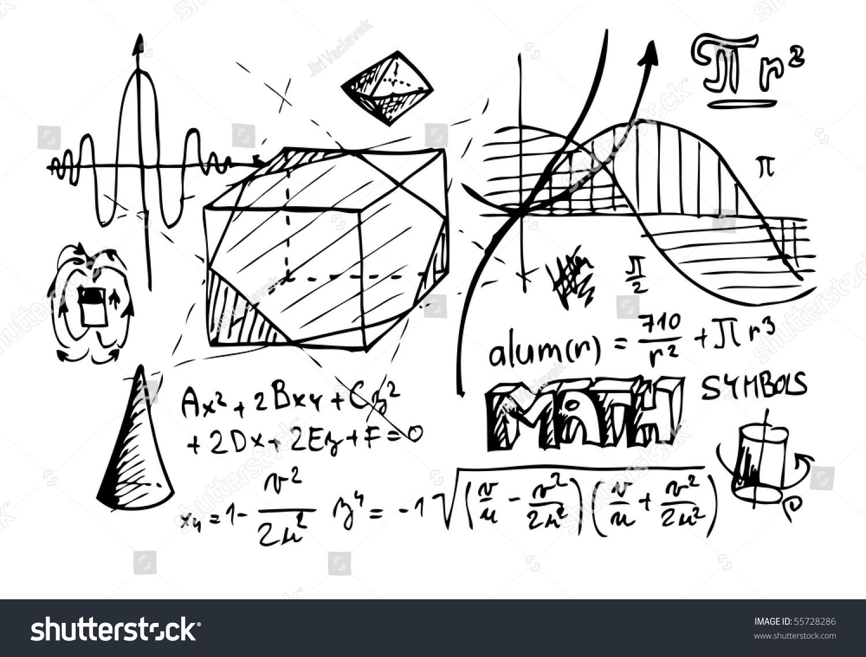 Hand Draw Math Symbols Stock Vector 55728286 - Shutterstock Electricity Symbols Clip Art