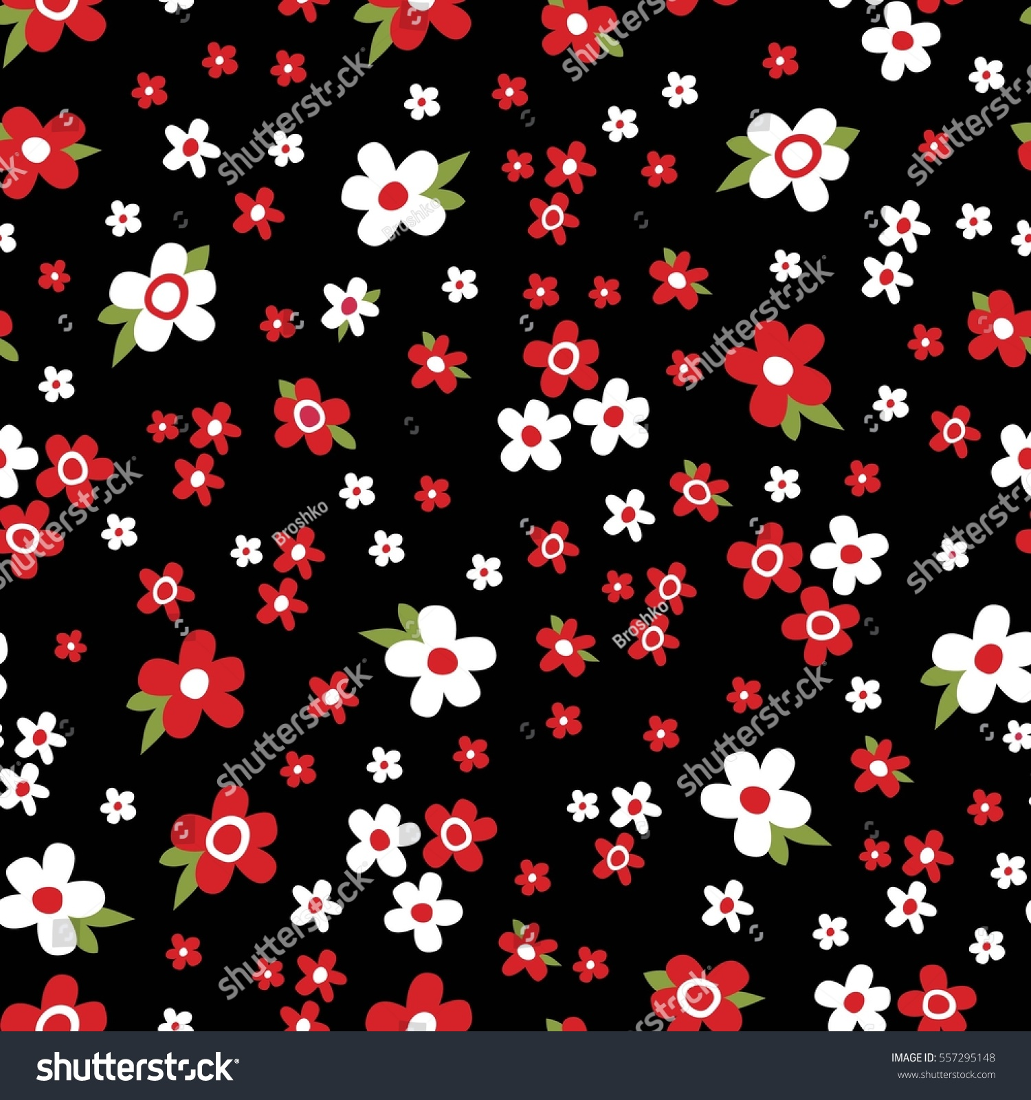 Cute Pattern Small Flower Small White Stock Vector Royalty Free