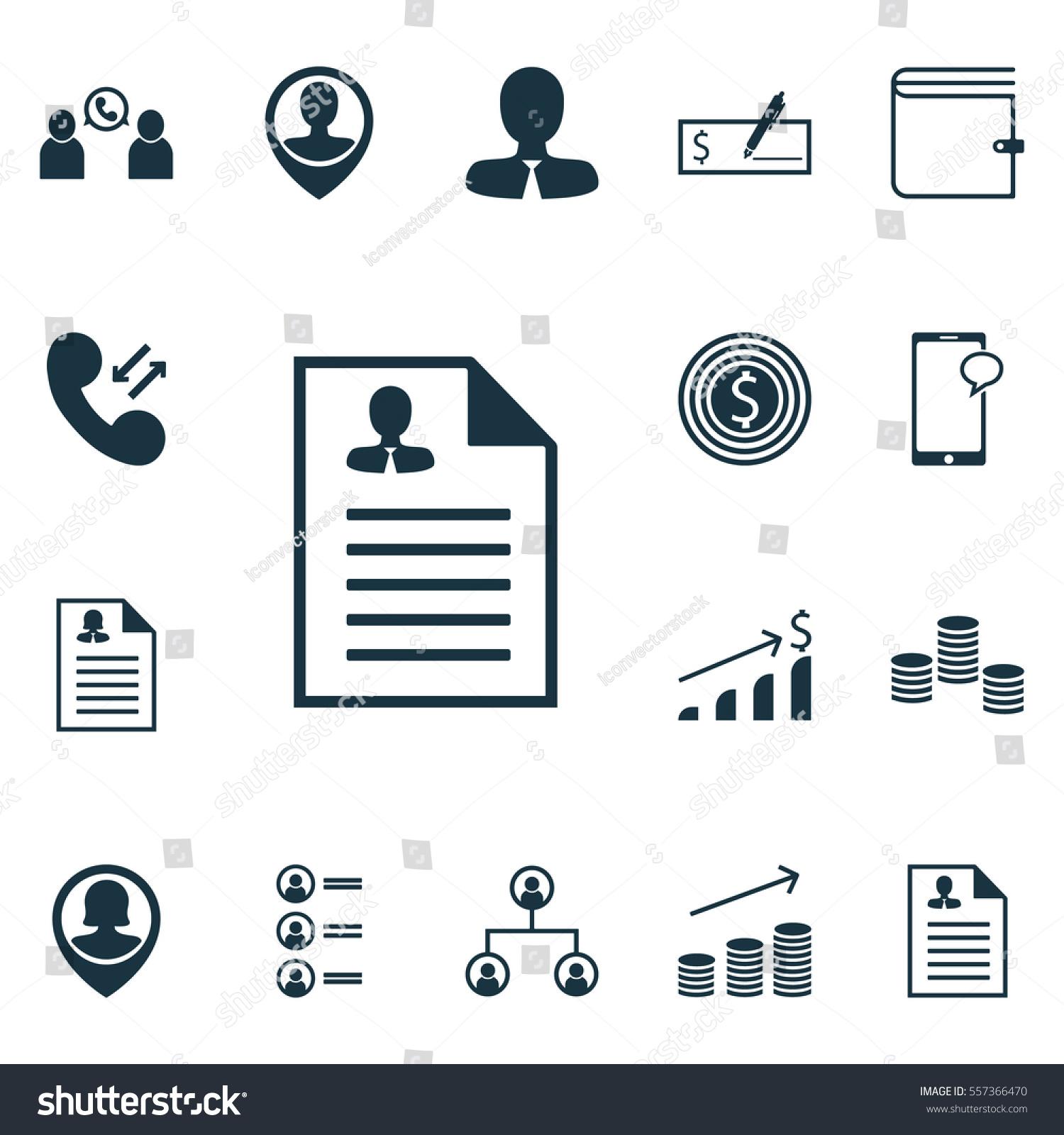 Set 16 Human Resources Icons Includes Vectores En Stock 557366470 ...