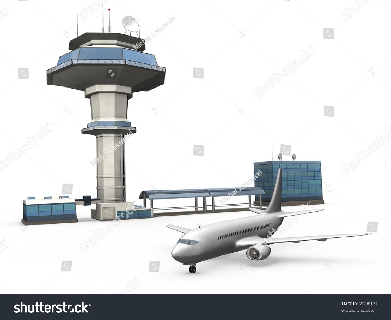Control Tower Plane Stock Illustration 55738171 - Shutterstock