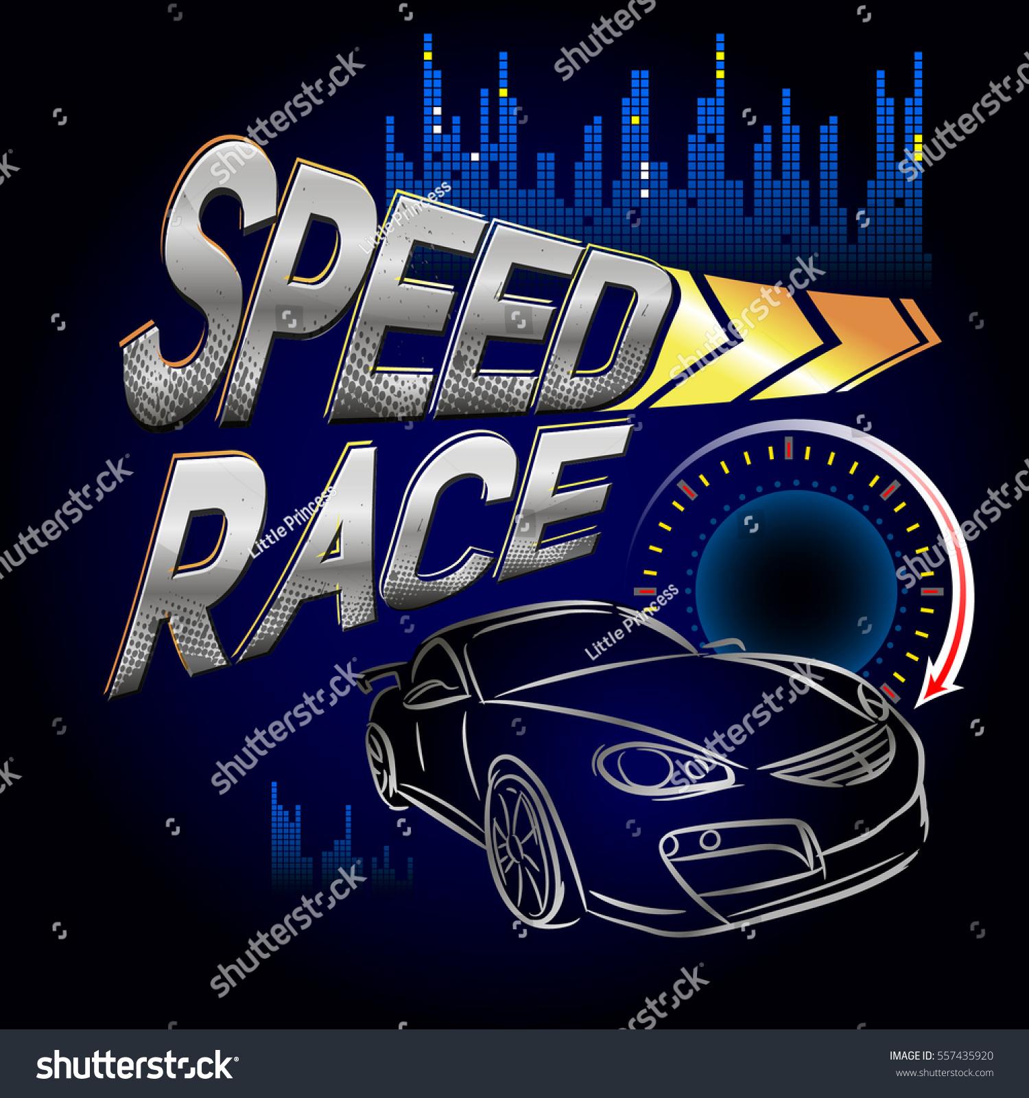 Speed Race Wallpaper Car Silhouette Speedometer 557435920