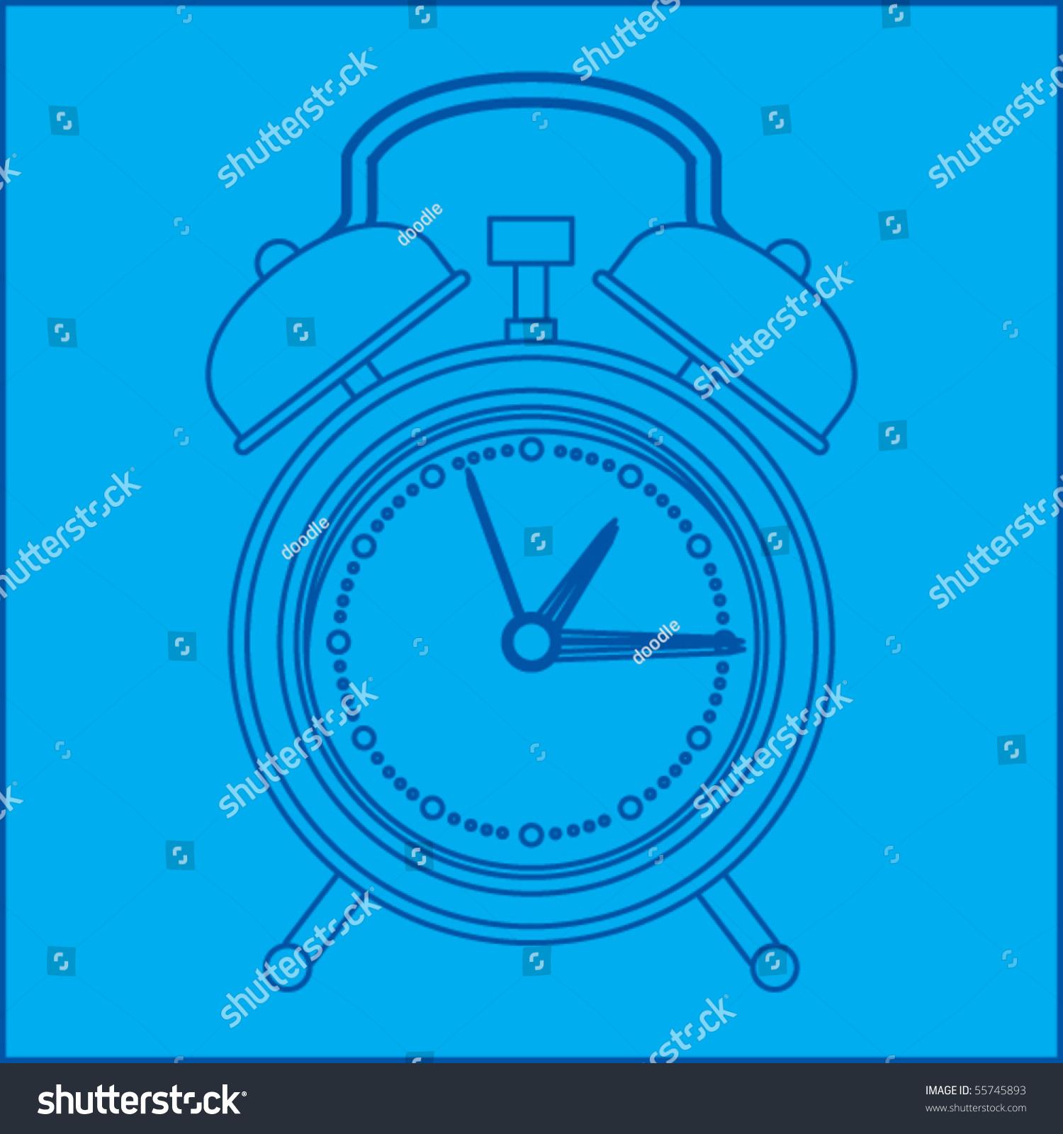 Alarm clock blueprint stock vector 55745893 shutterstock alarm clock blueprint malvernweather Gallery