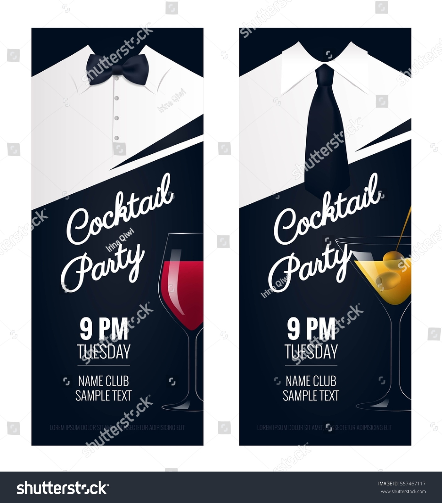 Cocktail Party Invitation Flyer Poster Design Vector – Party Invitation Flyer