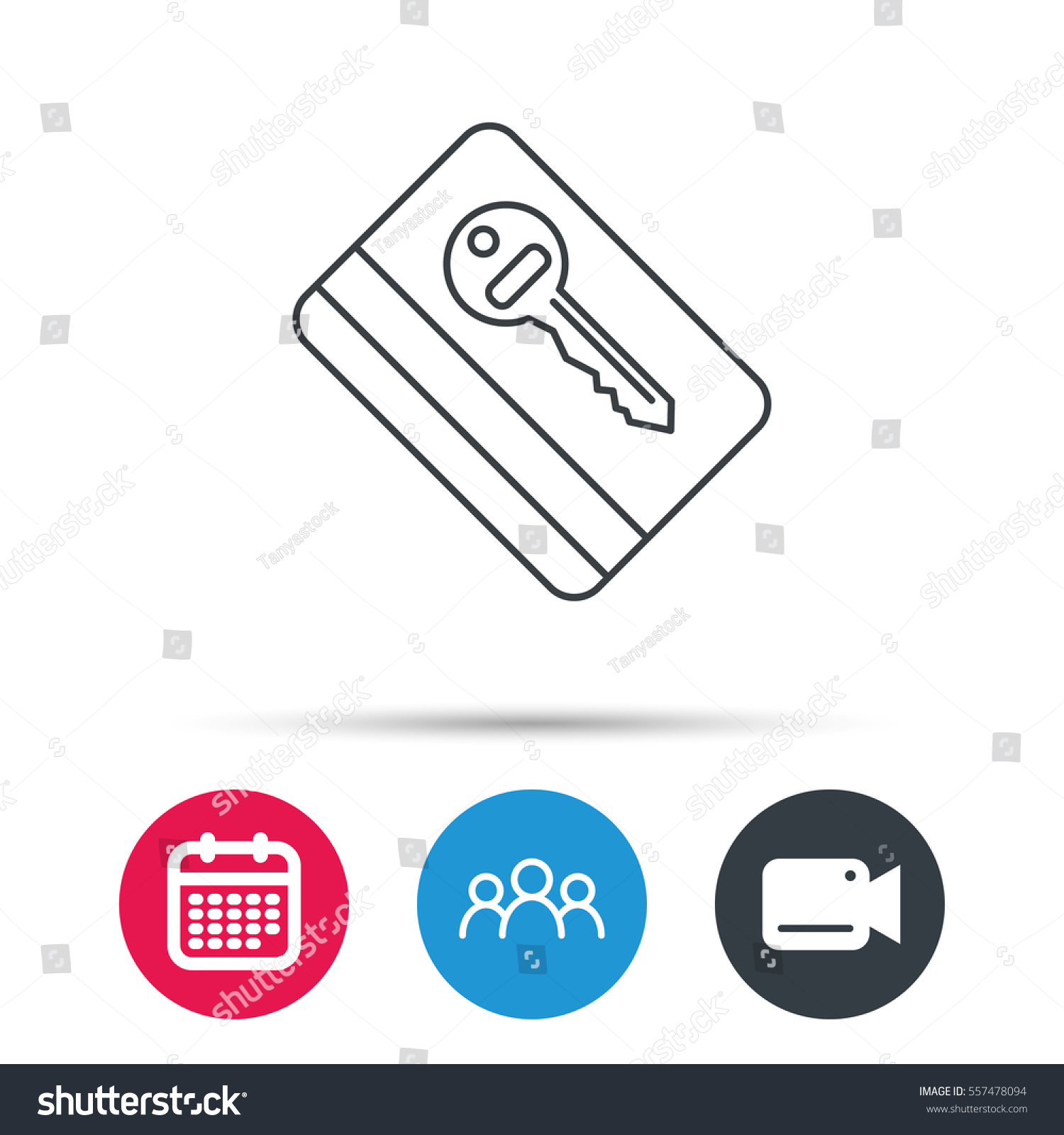 Electronic Key Icon Hotel Room Card Stock Vector 557478094