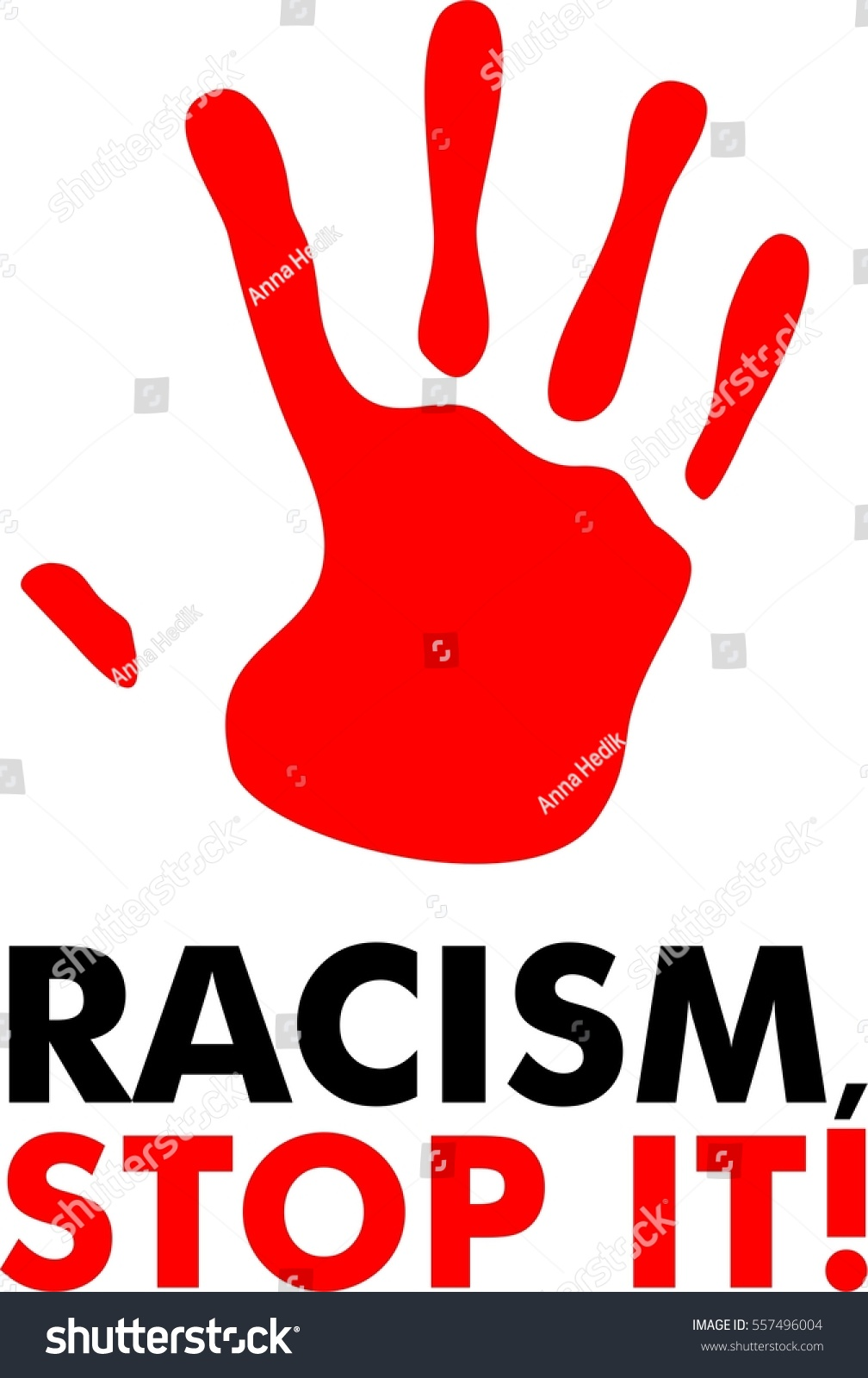 Racism stop it stop racism red stock vector 557496004 shutterstock racism stop it stop racism red hand icon flat biocorpaavc Images