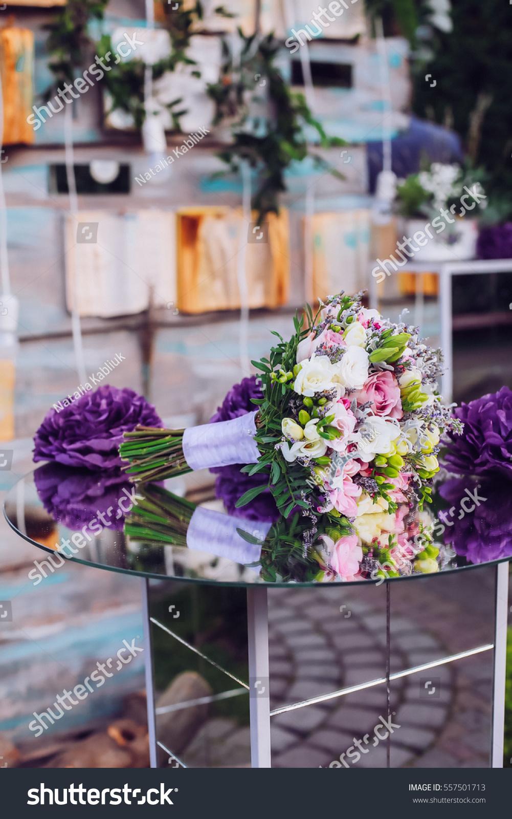 Beautiful Unusual Wedding Decor Rustic Style Stock Photo Edit Now 557501713