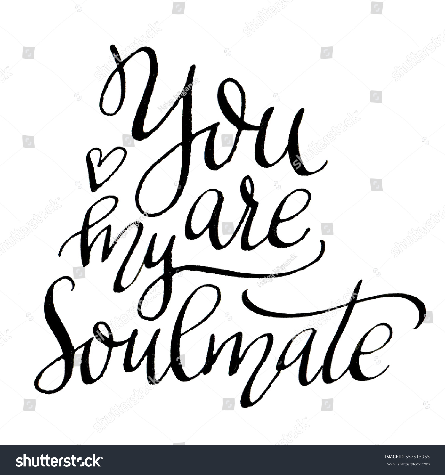 Royalty Free Stock Illustration Of You My Soul Mate Modern