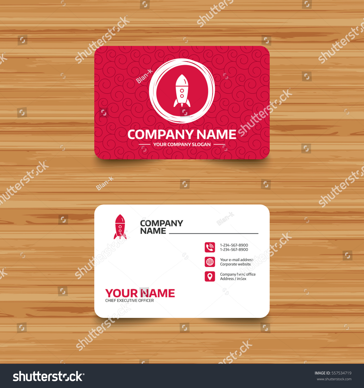 Business Card Template Texture Start Icon Stock Vector 557534719 ...