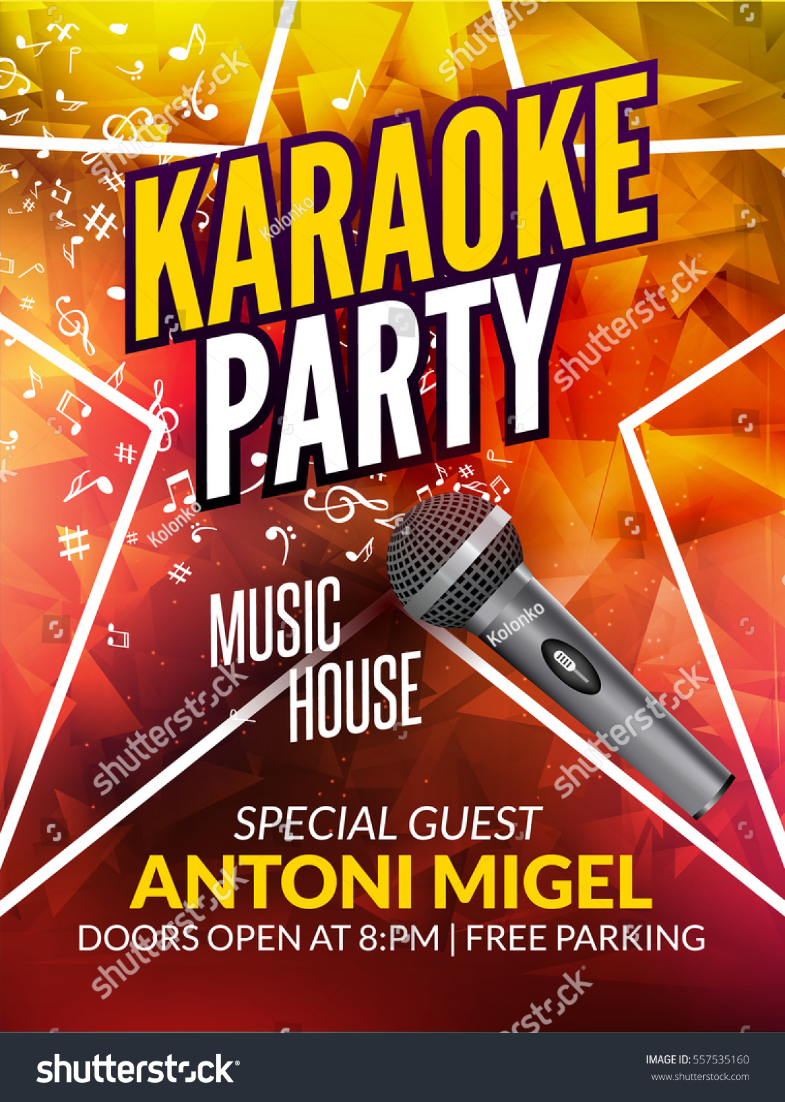 karaoke party invitation poster design template karaoke night flyer design music voice concert