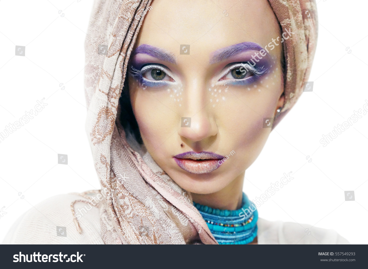 Bright Makeup On Very Beautiful Girl Stock Photo Edit Now