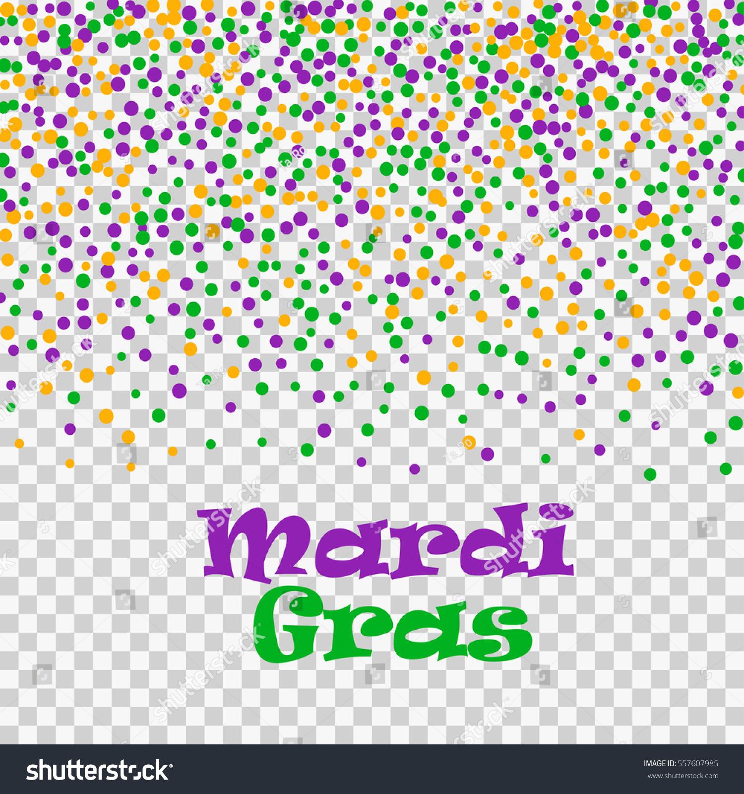 Mardi Gras Confetti Dots Isolated On Vector de stock557607985 ...