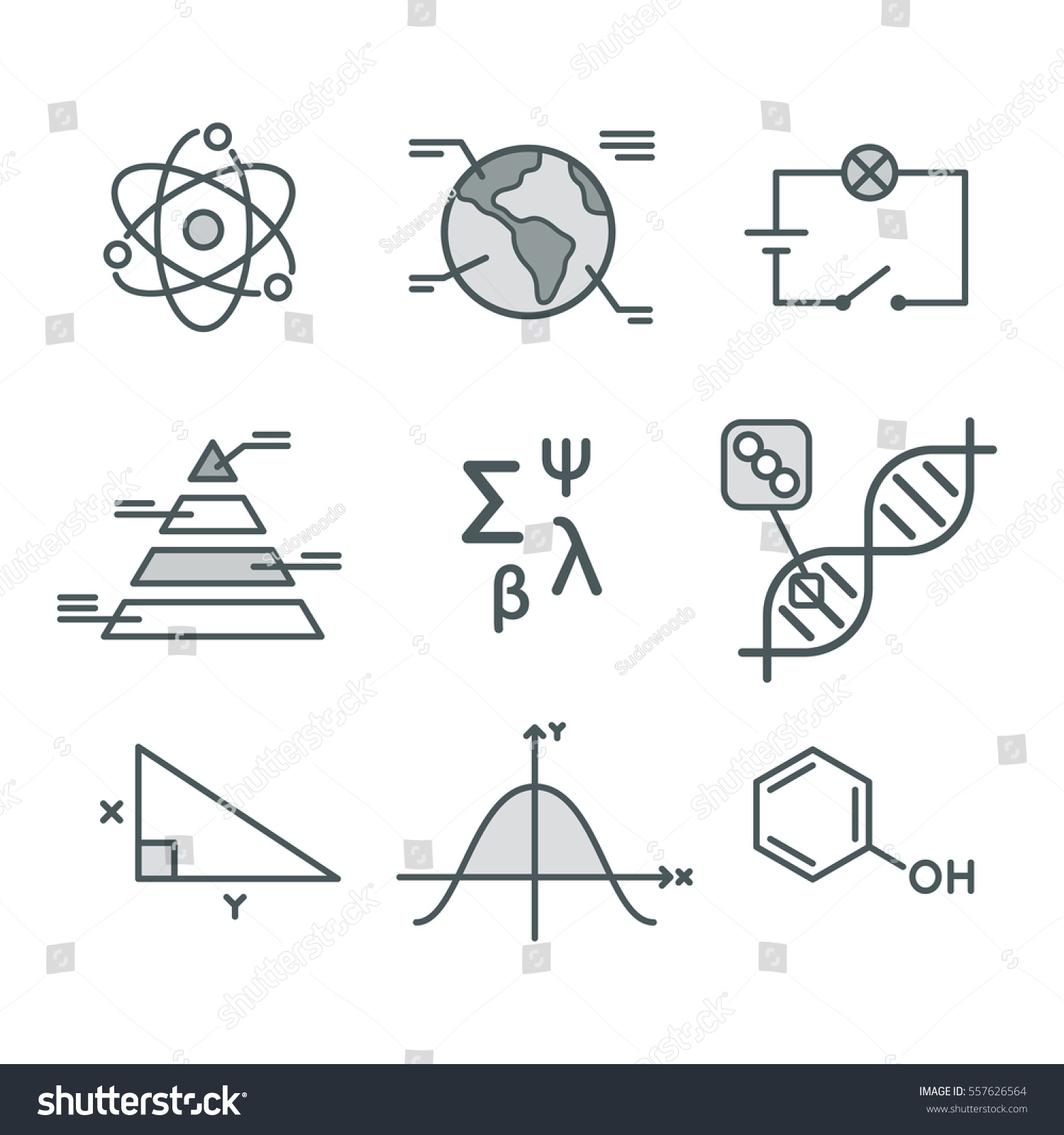 Science symbols set mathematical functions chemistry stock science symbols set mathematical functions chemistry and biology geography and physics abstract biocorpaavc Image collections