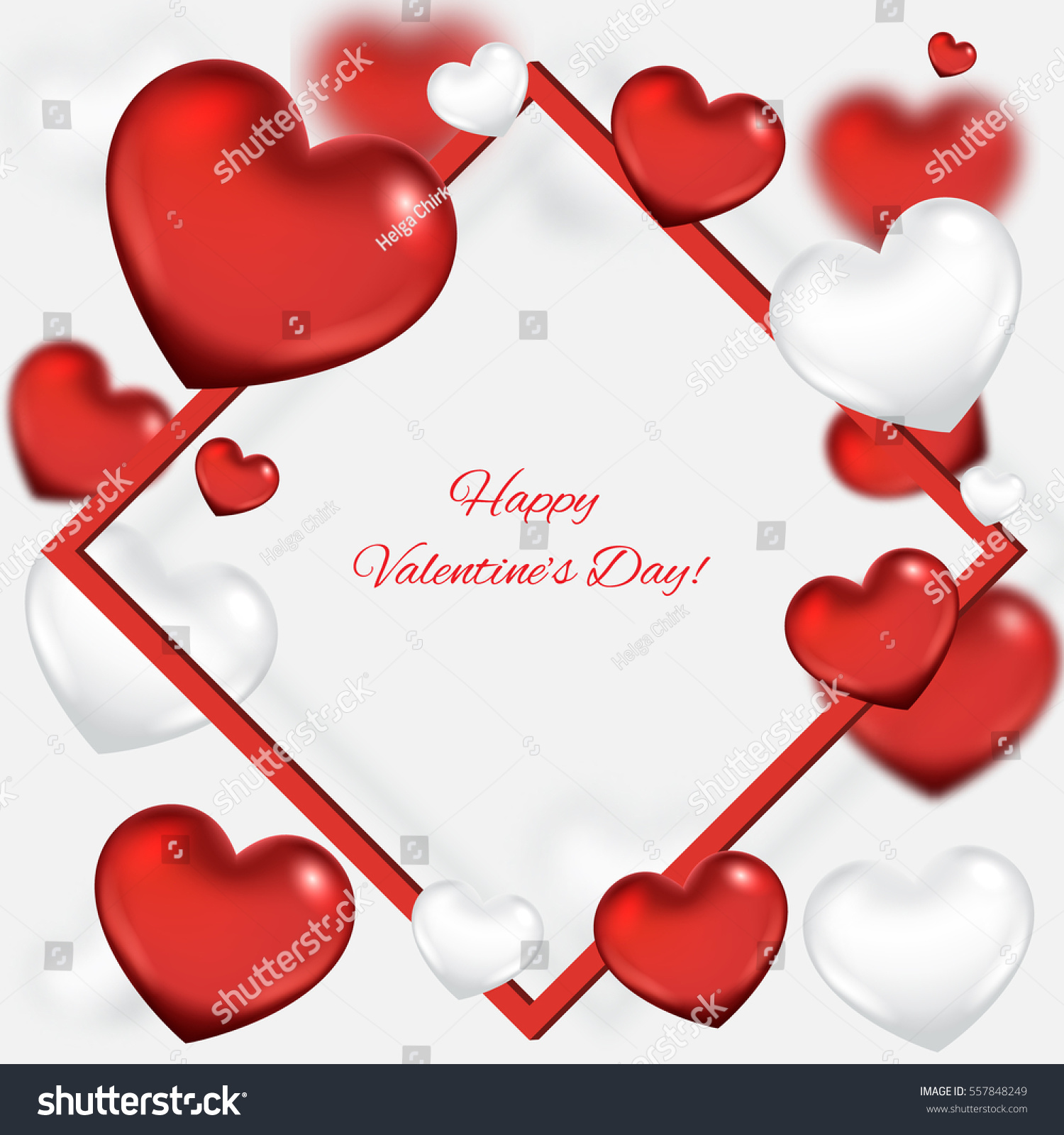 Valentines Day Background Frame Stock Vector 557848249 - Shutterstock
