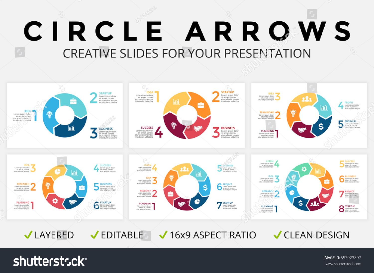 Vector circle arrows infographic cycle diagram em vetor stock vector circle arrows infographic cycle diagram or graph 16x9 slide presentation pie chart ccuart Images
