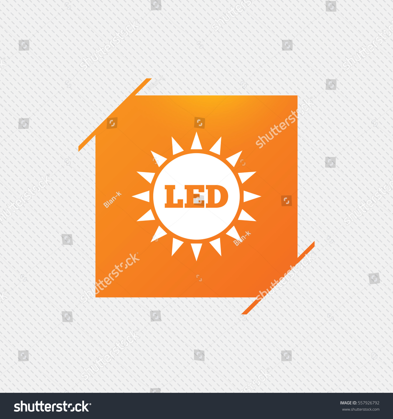 Led light sun icon energy symbol stock vector 557926792 shutterstock led light sun icon energy symbol orange square label on pattern vector biocorpaavc Images