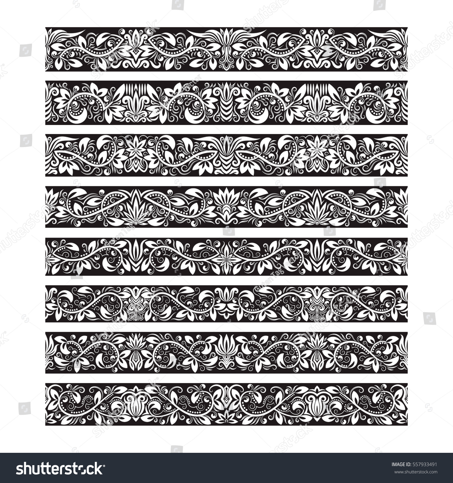 black white vintage elements for vector brushes creating borders templates kit for frames design and - White Vintage Picture Frames