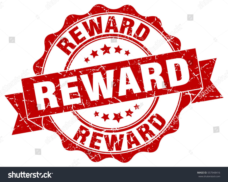 reward stamp sticker seal round grunge stock vector royalty free