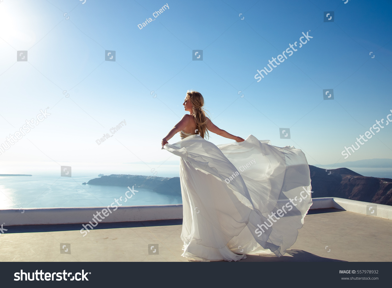 Portrait Gorgeous Blonde Young Woman Bride Stock Photo (Royalty Free ...