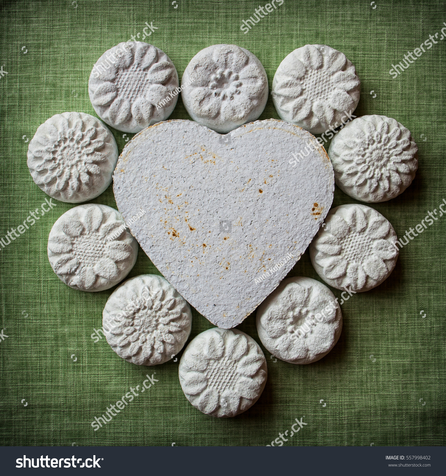 Heart Flowers Made Paper Mache On Stock Photo Edit Now 557998402