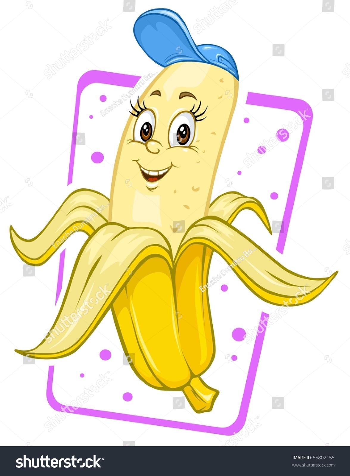 Cartoon Banana Clip Art Illustration Stock Vector (Royalty Free ...
