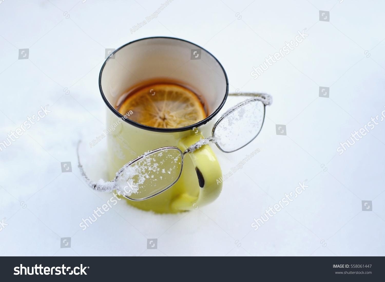 Yellow Tea Mug Lemon Black Tea Stock Photo (Edit Now) 558061447