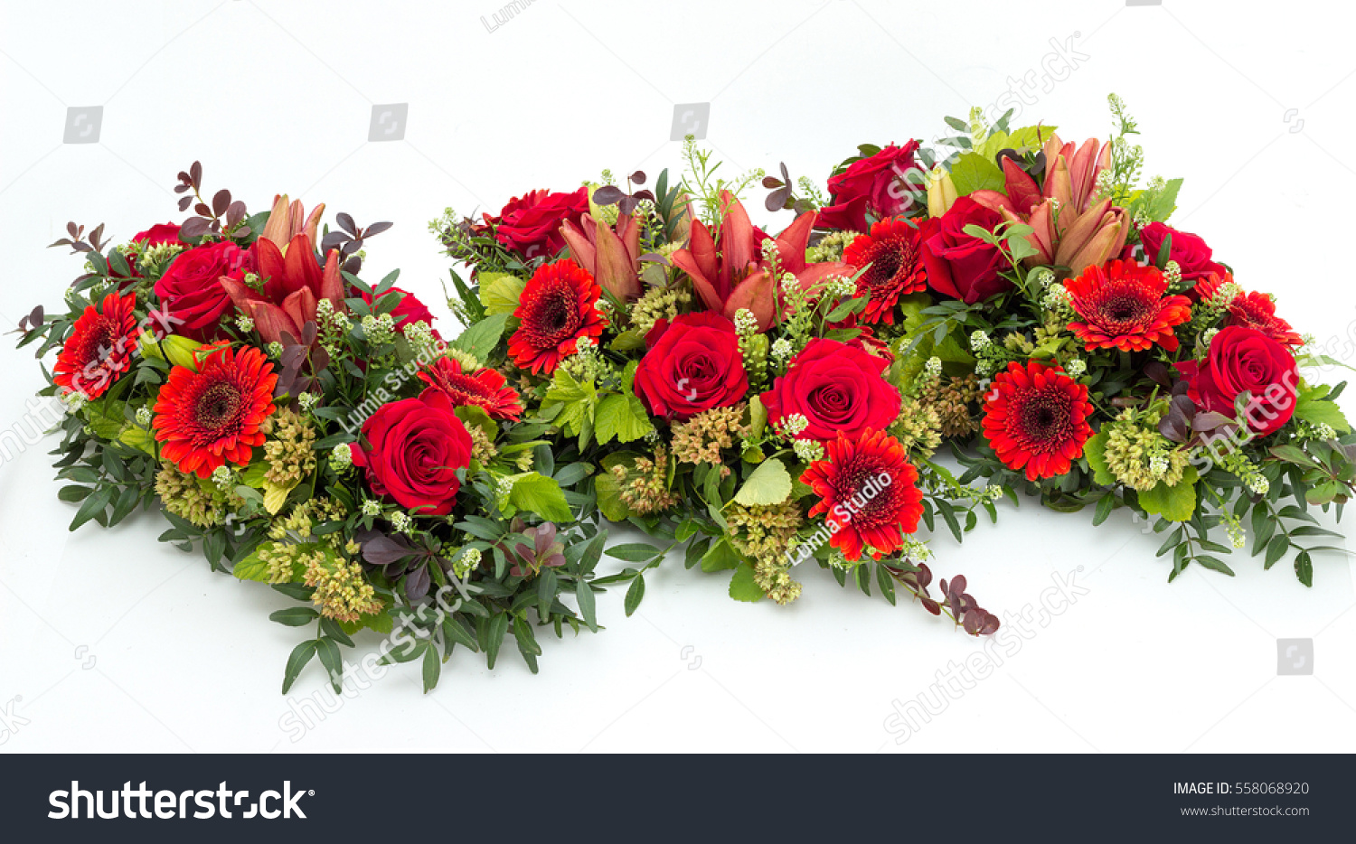 Funeral flower arrangement funeral isolated on stock photo edit now funeral flower arrangement for funeral isolated on a white background izmirmasajfo