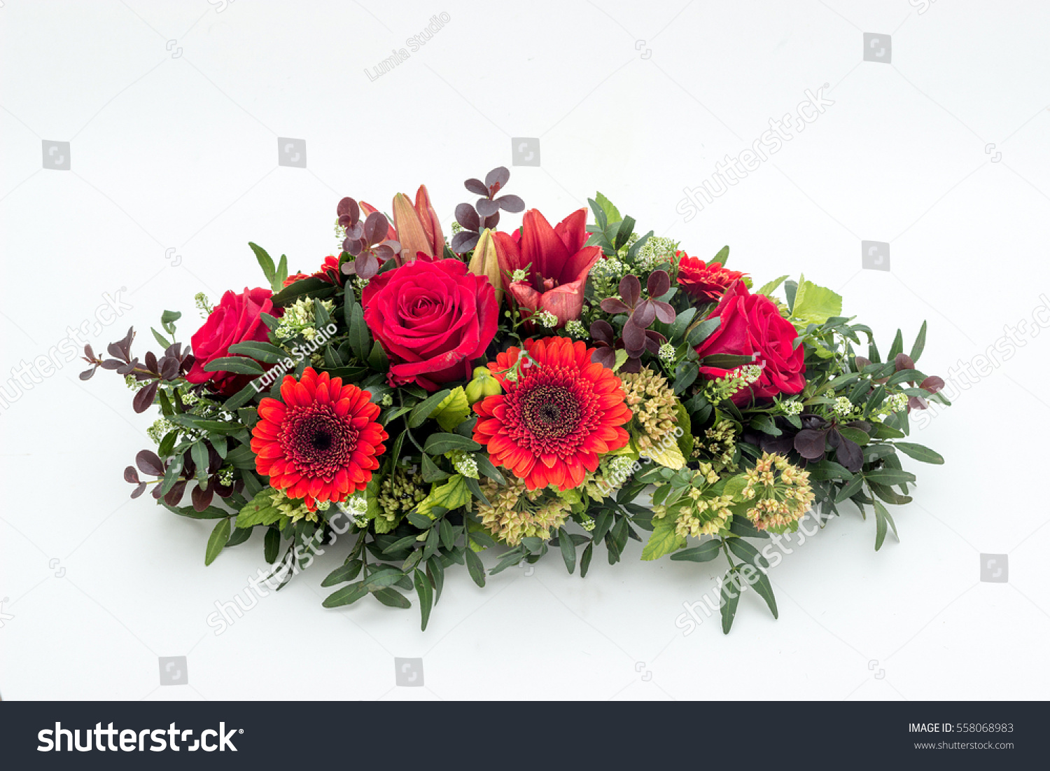 Funeral flower arrangement funeral isolated on stock photo royalty funeral flower arrangement for funeral isolated on a white background izmirmasajfo