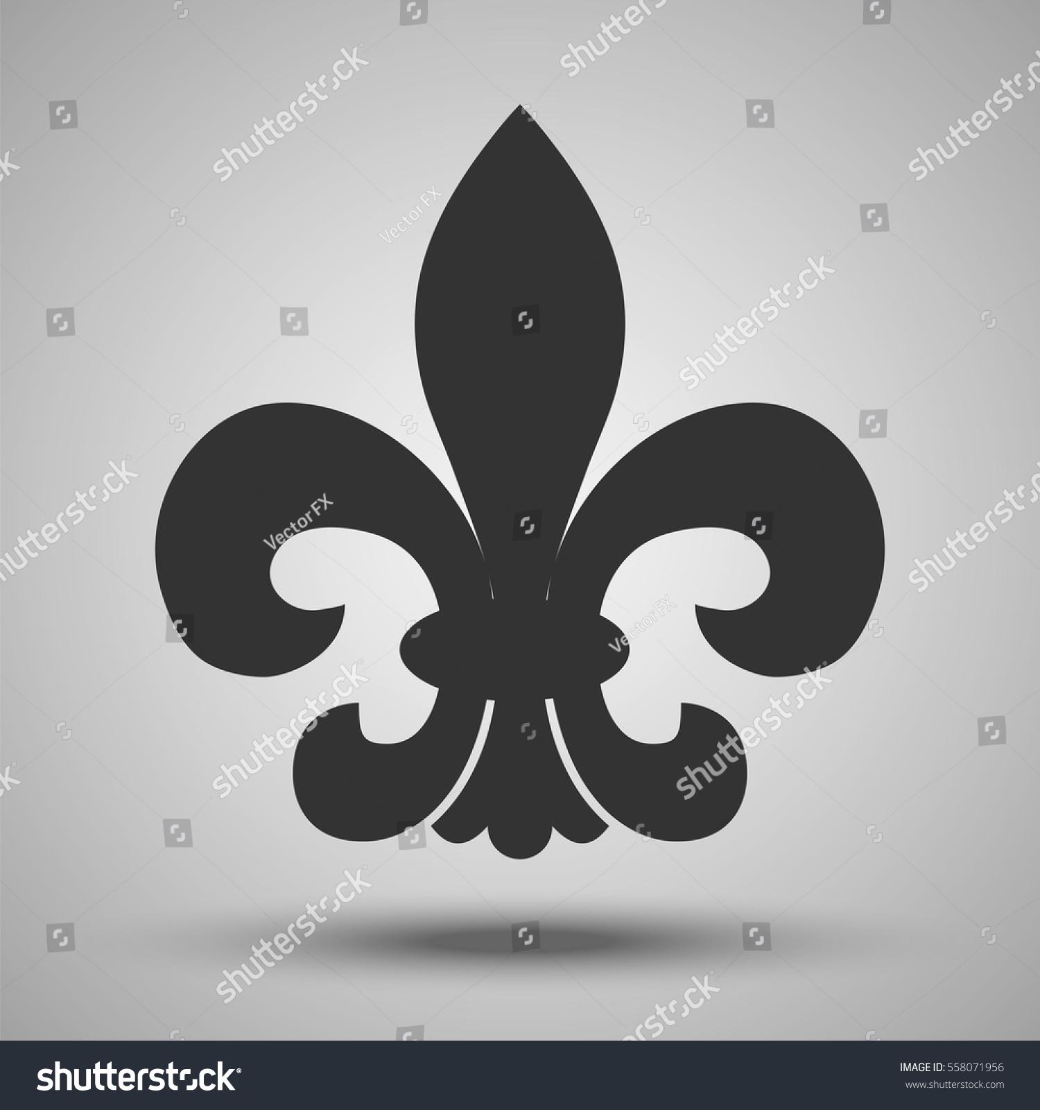 Fleur de lis french royal historical stock vector 558071956 fleur de lis french royal historical symbol vector illustration heraldic classic design element biocorpaavc