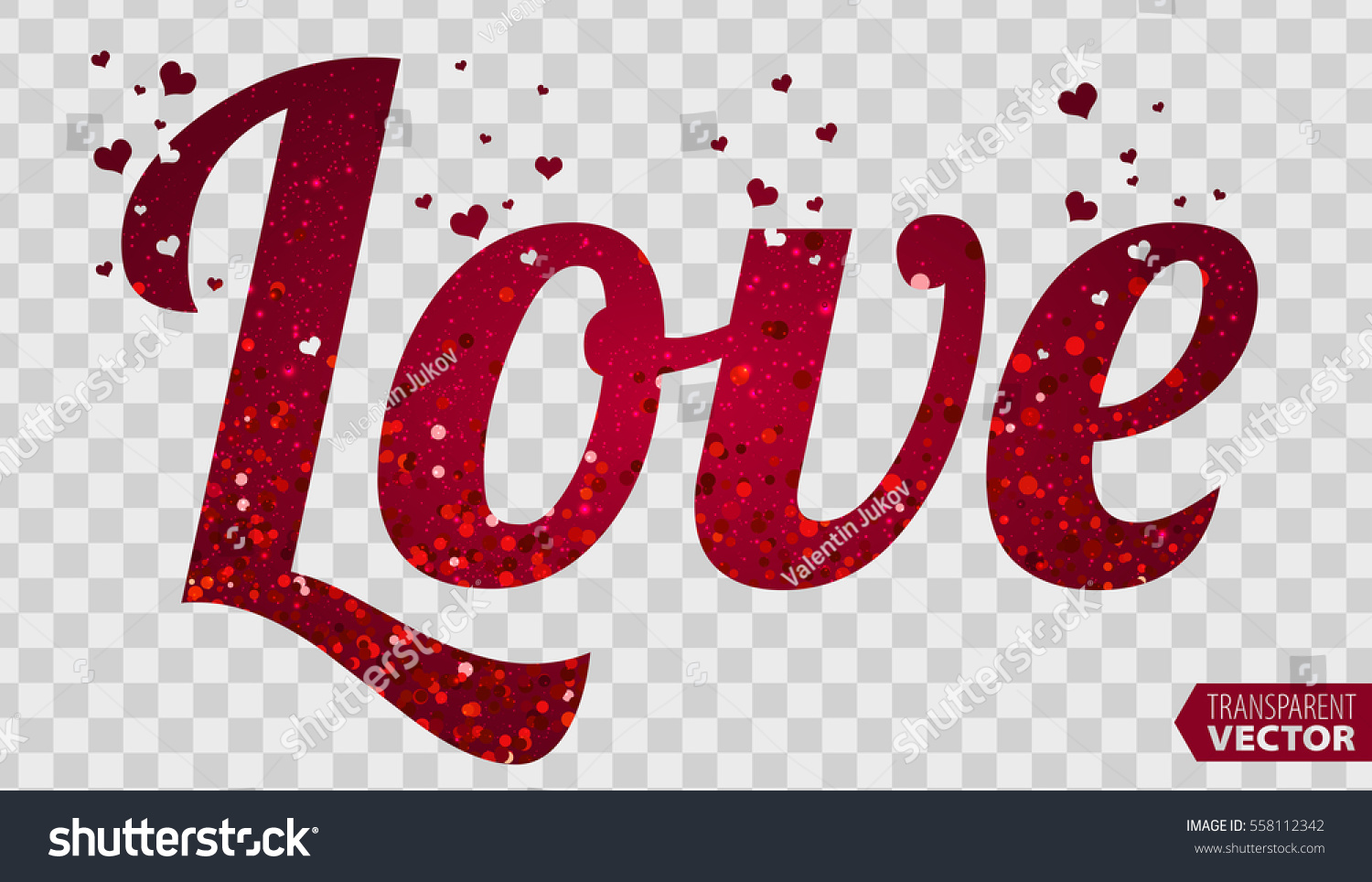 Love Font Type Purple Color Happy Stock Vector Royalty Free