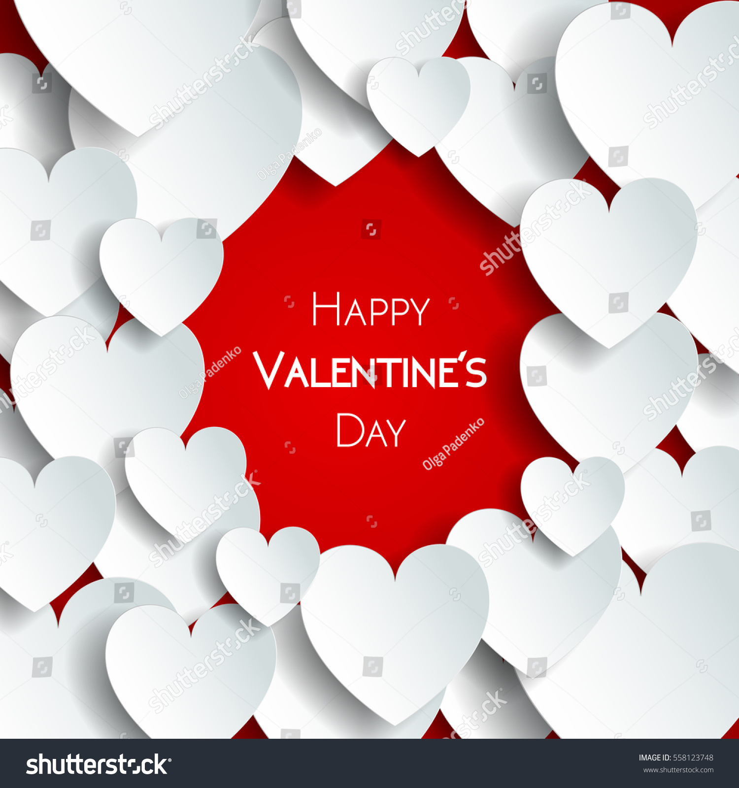 Happy valentine day greeting card hearts stock vector 558123748 happy valentine day greeting card with hearts vector illustration of loving hearts kristyandbryce Image collections