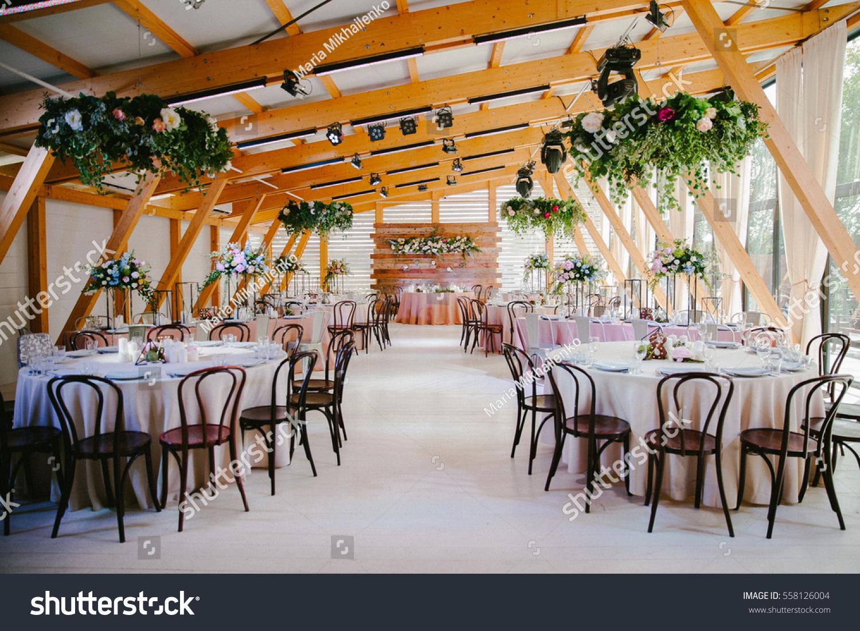 Wedding Reception Wooden Style Stock Photo Edit Now 558126004