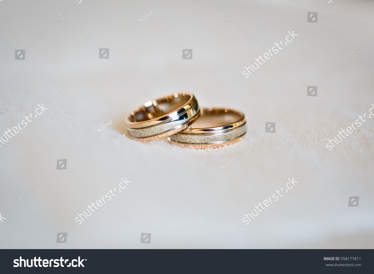 Two Wedding Rings Close Up Symbols Attributes Holiday Celebration Macro