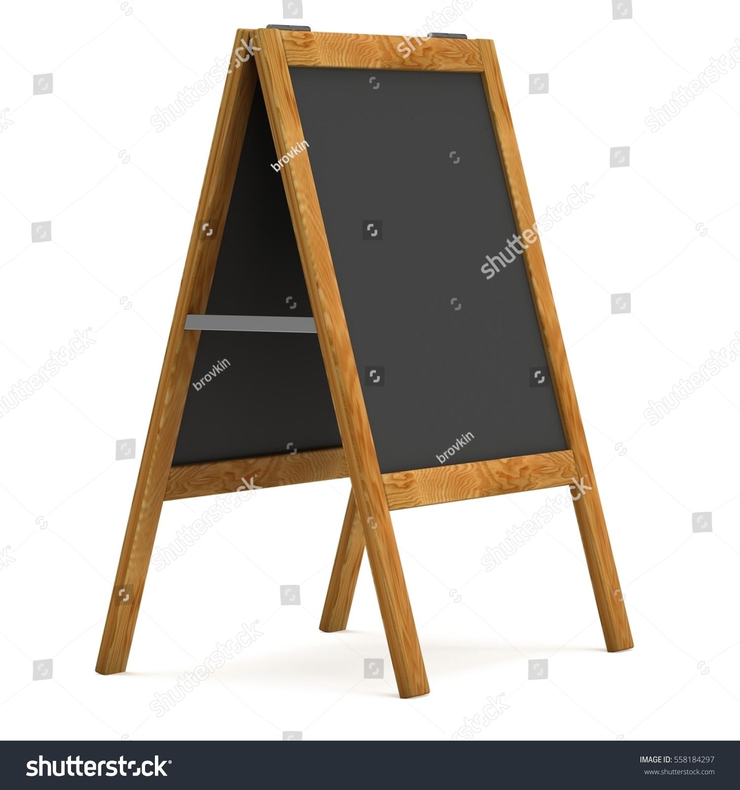 Sandwich Board Black Menu Outdoor Display Stock Illustration ...