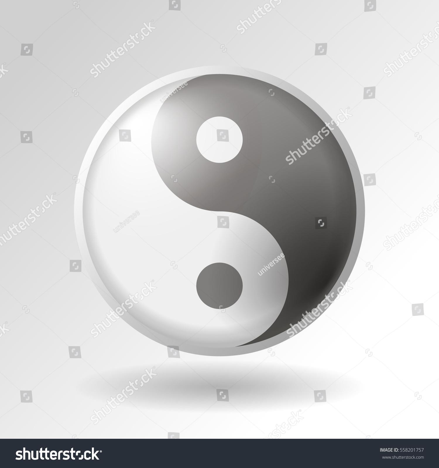 Yinyang symbol on white background stock vector 558201757 shutterstock the yin yang symbol on white background buycottarizona Choice Image