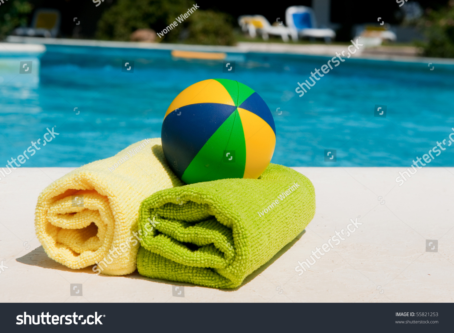 Towels Toys Near Swimming Pool Hotel Stock Photo (Edit Now ...