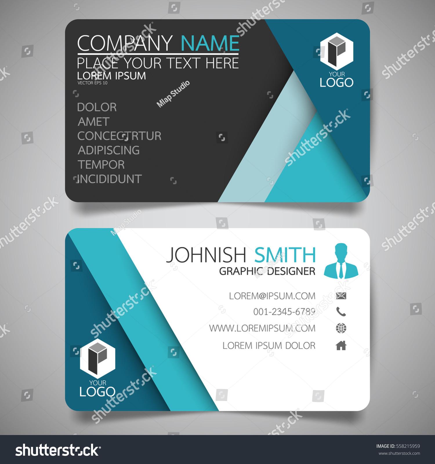 blue modern creative business card and card horizontal simple blue modern creative business card and card horizontal simple clean template vector design